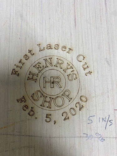 first laser cut