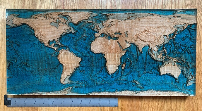 World Map Example Top View