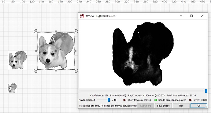 Pet photo preview at 8 cm size