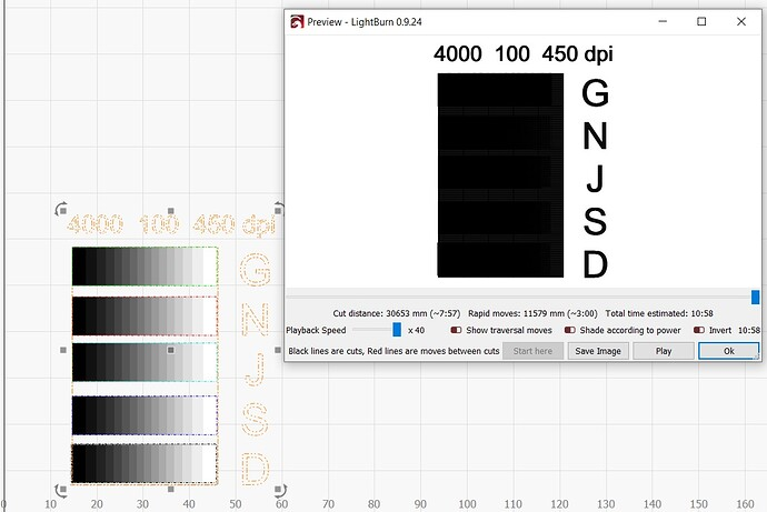 Grayscale calibration on screen and in preview mode 6 18 2021