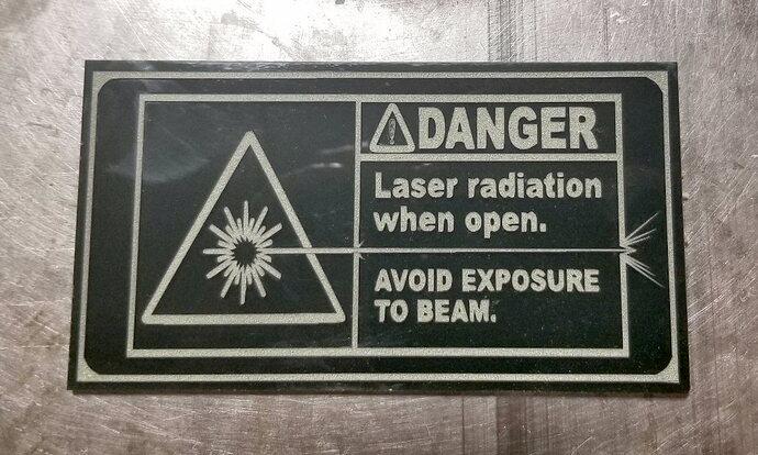 Danger - Laser sign