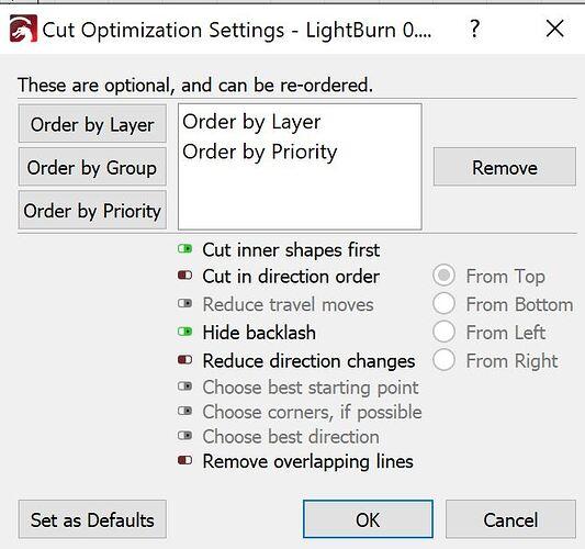optimizing settingd