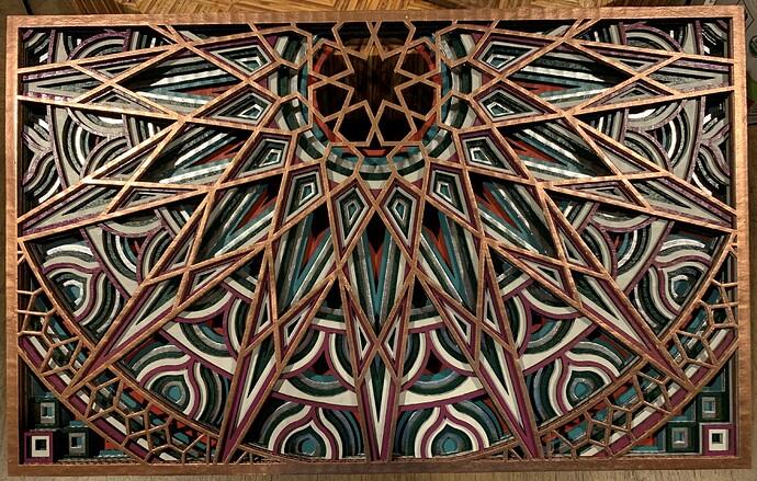 cardboard mandala 1
