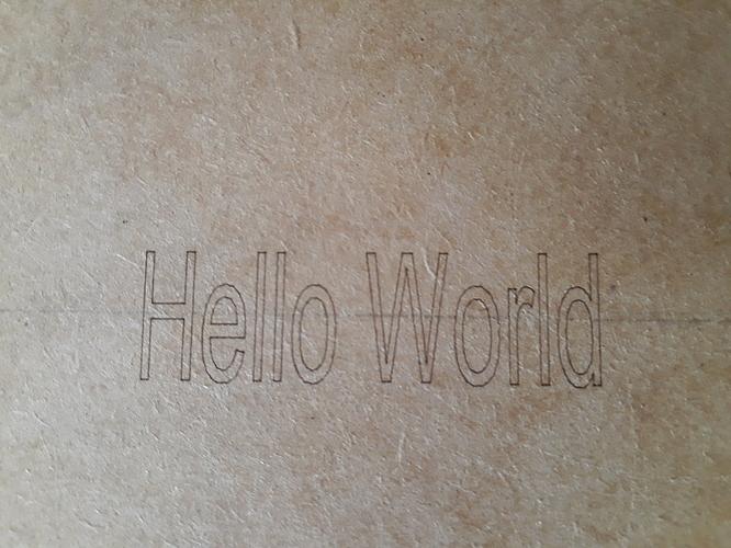 hello world line cut