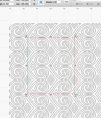 pattern and clipping box