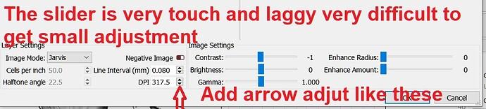 lightburn laggy adjustments