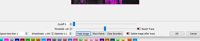 trace image options