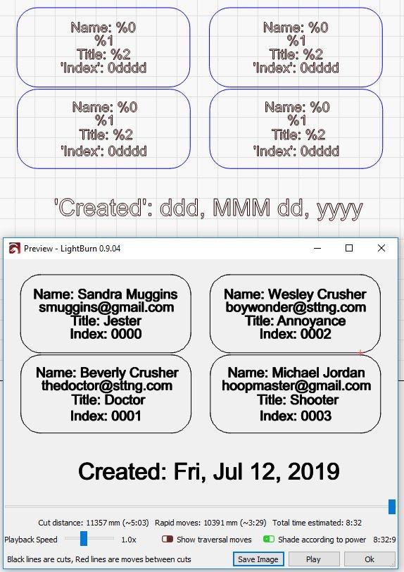 Serial Number / Sequential numbering - LightBurn Software