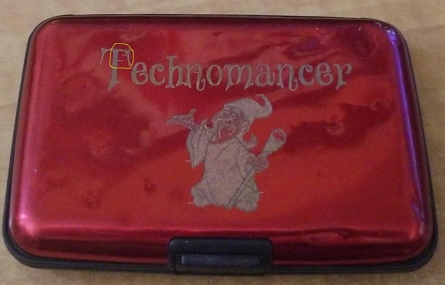 Technomancer wallet marked up