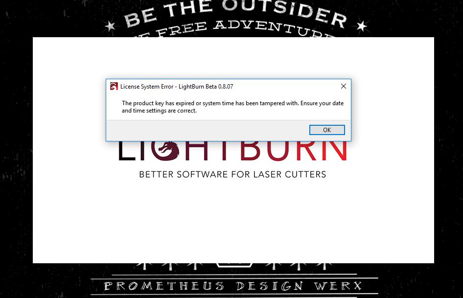 License Expired Lightburn Software Lightburn Software Forum