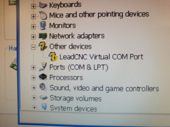 Device manager error