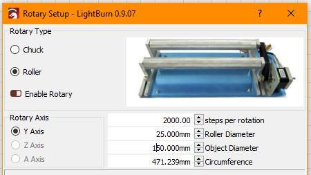 LightBurn-Rotary