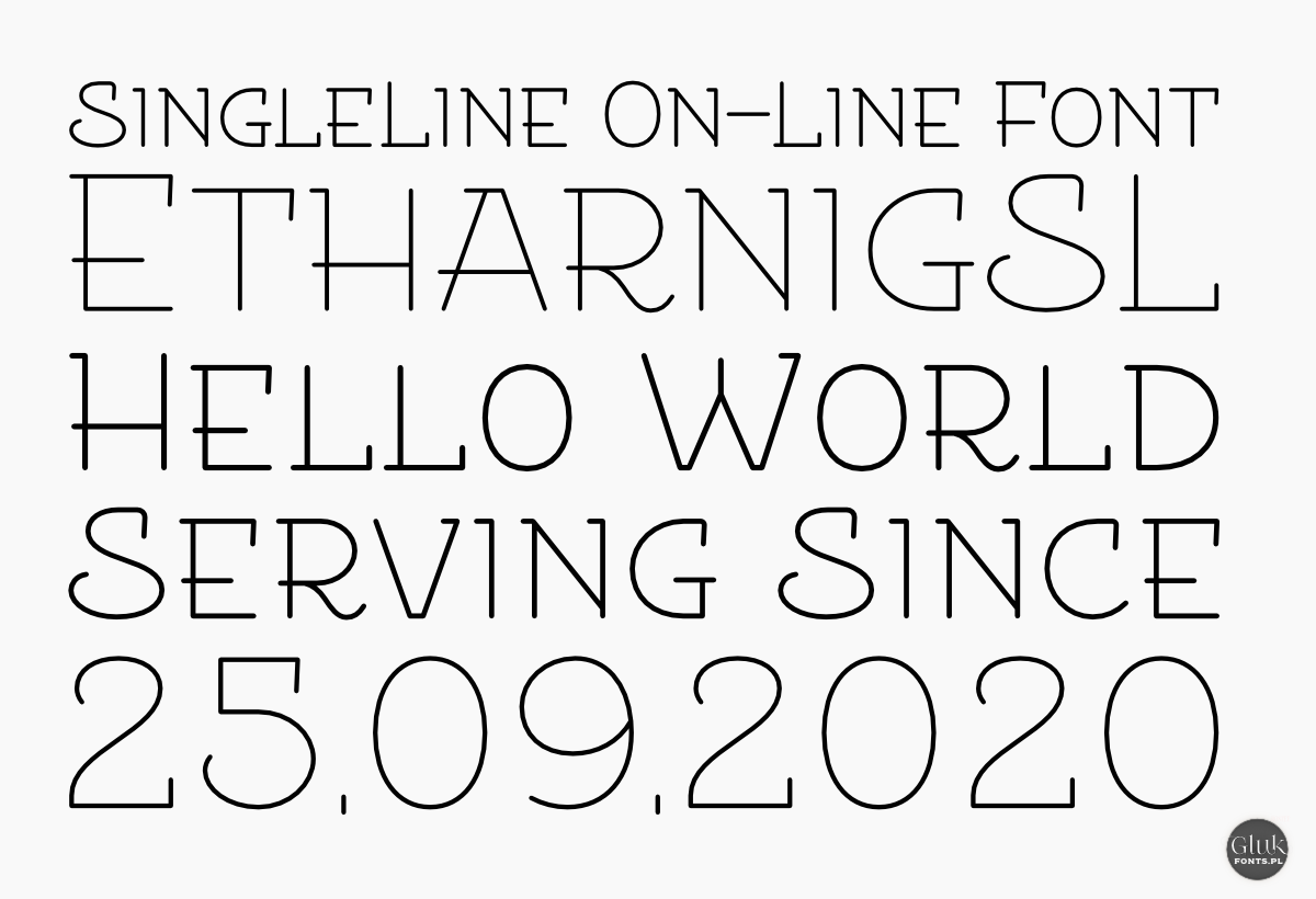 Line free fonts single Free Single