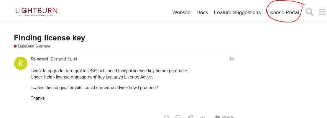 Finding license key - LightBurn Software - LightBurn ...