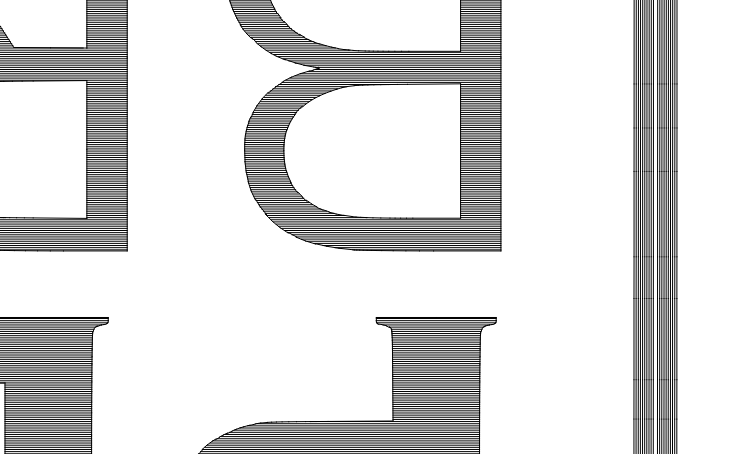 offset fill 0.1 line interval