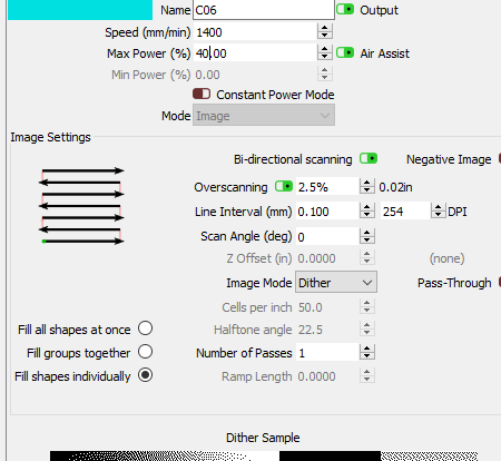 turns on overscanning and other options