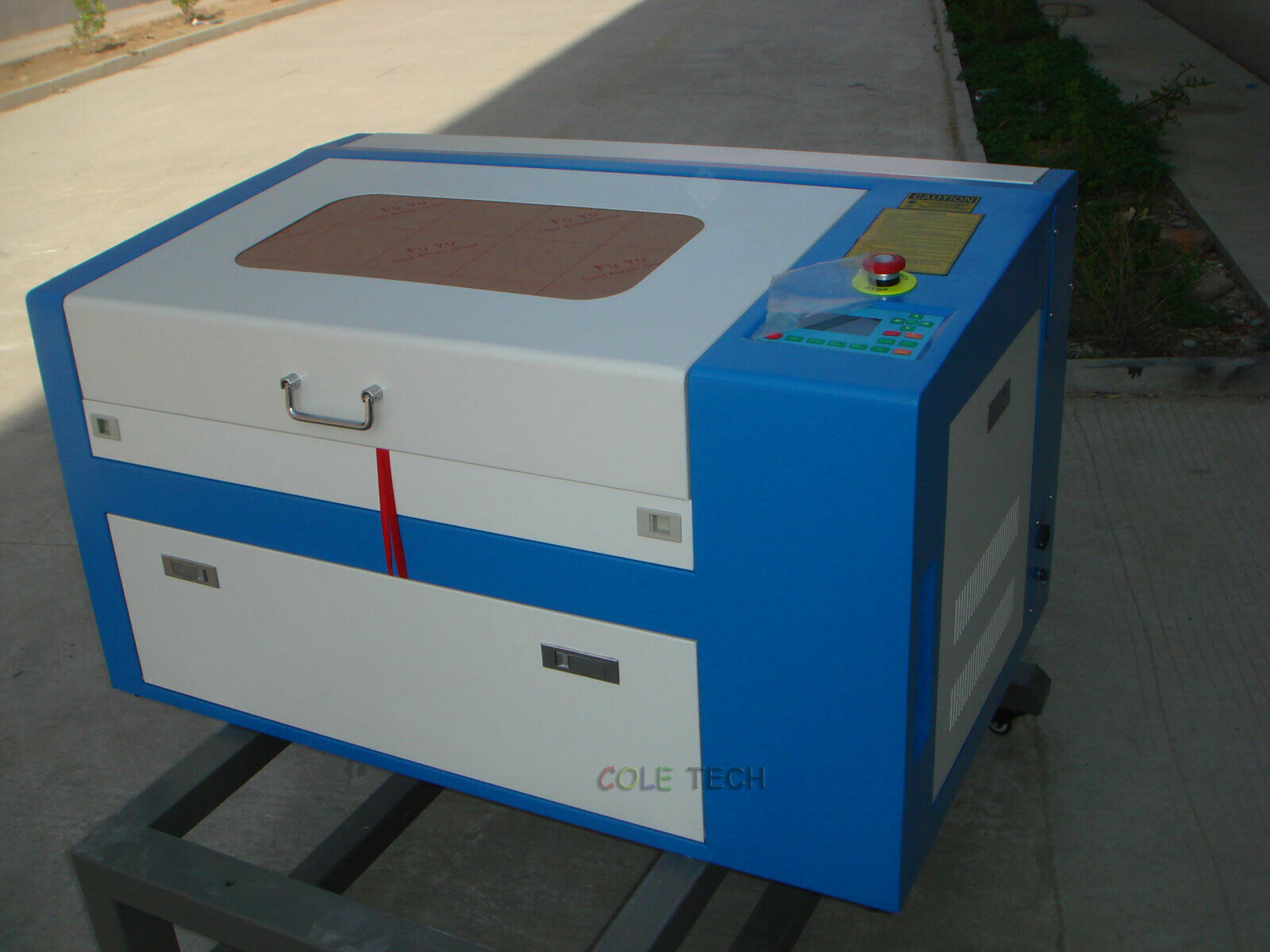 blue and white co2 laser